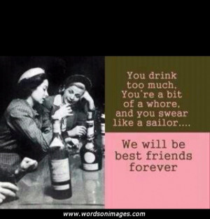 friendship drinking quotes