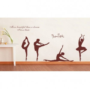 Cute ballet wall quote