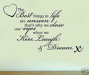 ... -KISS-LAUGH-DREAM-Quote-Silhouette-Vinyl-Wall-Art-Sticker-Decal