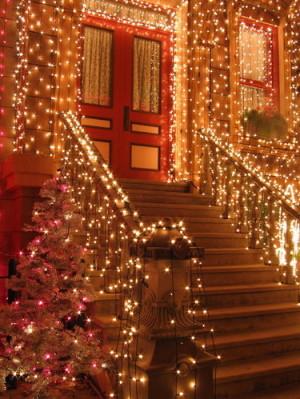 ... , holiday, home, light, lights, outdoors, sparkle, sparkles, steps