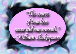 love the course of true love never did run smooth