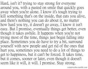 Trying To Stay Strong Quotes Tumblr Stay strong