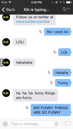 My convo with kik team More