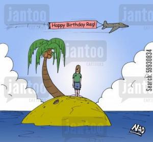Happy Birthday Island Cartoon