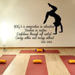 ... -Vinyl-Decal-Sticker-Art-Mural-Yoga-Studio-Gym-Decor-Girl-Quote-KG803