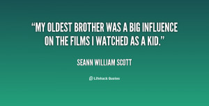 My oldest brother was a big influence on the films I watched as a kid ...