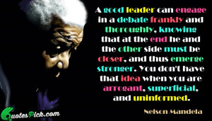 Good Leader Can Engage Quote by Nelson Mandela @ Quotespick.com