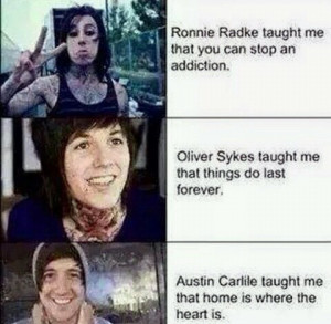 ... falling in reverse, of mice and men, oli sykes, quotes, ronnie radke