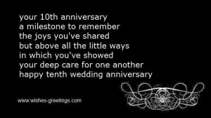 short 10th marriage aniiversary poems