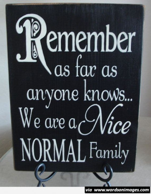 We are a nice normal family quote