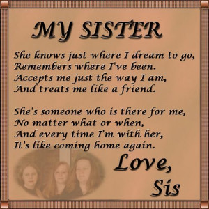 images for sister love poem