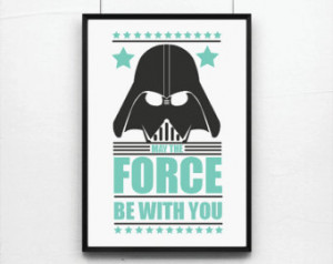 , Star Wars print, Movie Poster, Retro poster, Inspirational quote ...