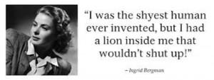 Ingrid Bergman quote