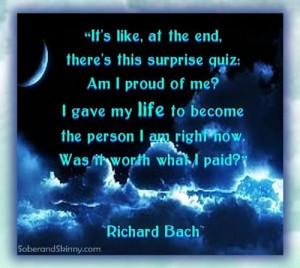Richard Bach Quote: It's Like at the End