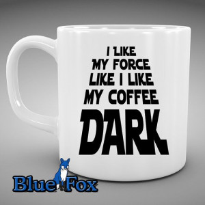 mug i like my coffee and force black star wars ceramic coffee cup mug ...