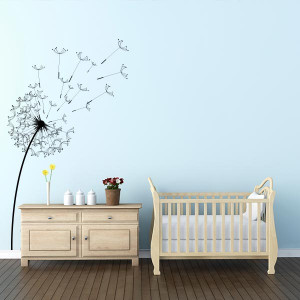 blowing dandelion flower wall decal $ 29 00 this dandelion wall decal ...