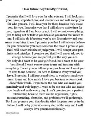 Dear future boyfriend/girlfriend