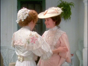 These pastel gowns were highly fashionable in 1902, the year in which ...