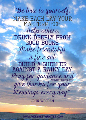 ... and give thanks for your blessings every day – Inspirational Quotes
