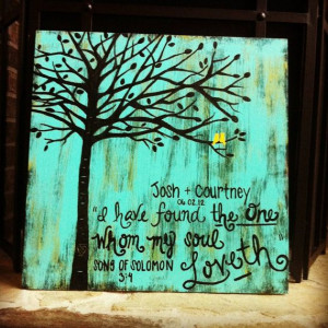 ... Order Acrylic Painting on Wood: Scripture, Quotes, Wedding Vows, or
