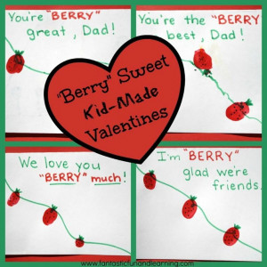 Berry Sweet Kid-Made Valentines