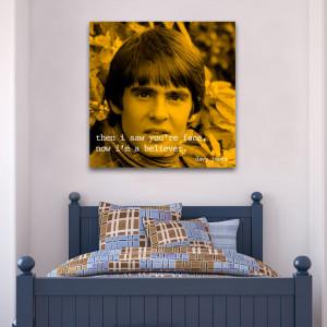 Monkees davy jones quote square wall art
