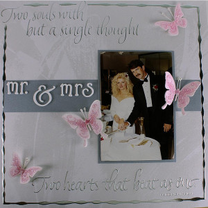 Mr. and Mrs. Wedding Scrapbook Layout