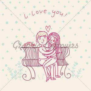 cartoon love couple