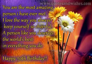 70th birthday wishes 2 70th Happy Birthday Wishes. Birthday greetings ...