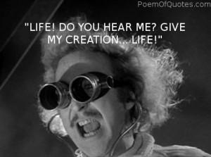 Funny Frankenstein Pictures Dr. frankenstein saying to