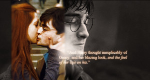 """dancingraphics:""""And Harry thought inexplicably of Ginny, and her ..."""