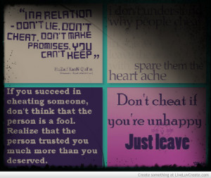 Karma About Cheating Quotes