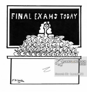 Funny Final Exam Cartoons