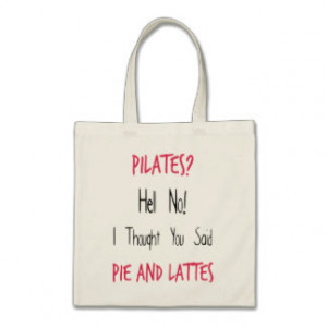Pilates Funny Quote, Black and Pink Bags