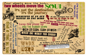 Motorcycle Quotes Poster Giveaway