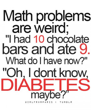 chocolate, diabetes, funny, lol, math, problems, text