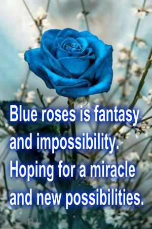 blue roses means...