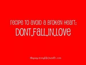 broken heart, love, quotes, recipe, red, typography