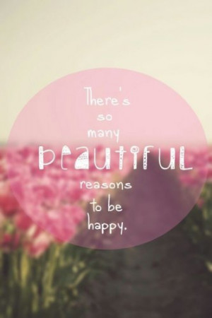 pink #girly #quote #flowers #happiness
