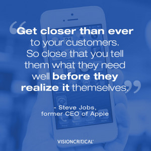marketing quote by Steve Jobss, small business marketing