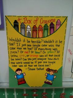 Box of Crayons | Back-To-School Diversity Bulletin Board More