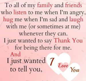 To all my family and friends sayings image quotes