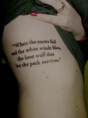 ... Ned Stark quote inked across her ribcage. Copyright: tumblr 8 of 13