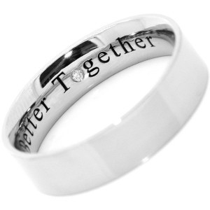 we have produced promise rings and wedding rings with laser engravings ...