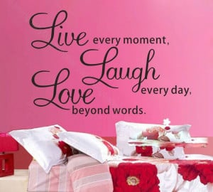 Live laugh love Wall Quotes decals Removable sticker home decor Vinyl ...