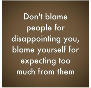 blame yourself