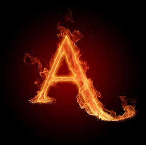 Graffiti Letters A cool Fire. Graffiti design letter A flame is ...