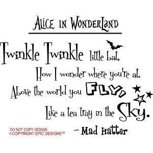 Alice in Wonderland Wall Quote Decals