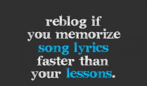 Reblog If You Memorize Song