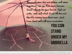 beautiful, cute, inspirational, love, quote, quotes, under my umbrella